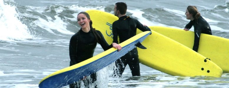 Roker Beach Surfers